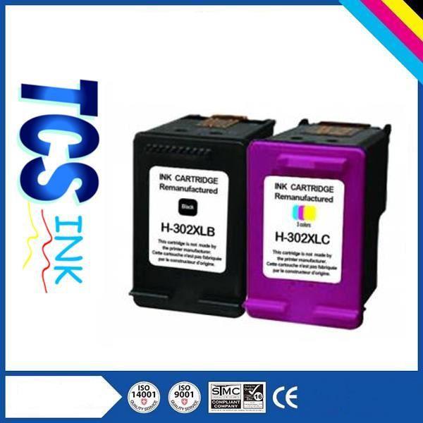 Packs 2 cartouches pour Hp 302Xl Noire et Couleur Compatible Deskjet 1110
