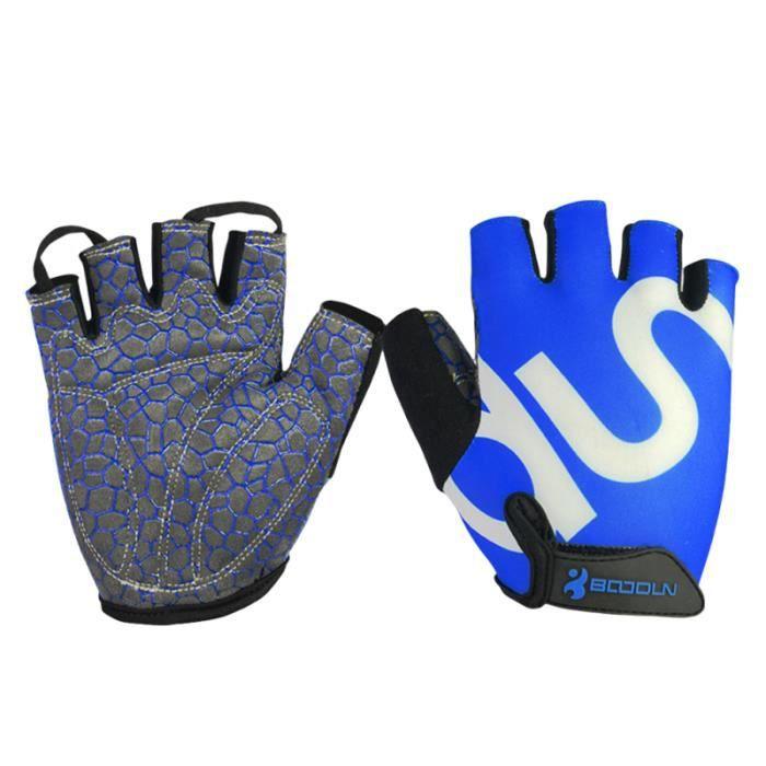 1 paire de gants demi-doigt antichoc respirant de cyclisme de vélo pour hommes Sport ACCESSOIRES VELO - DECORATION VELO