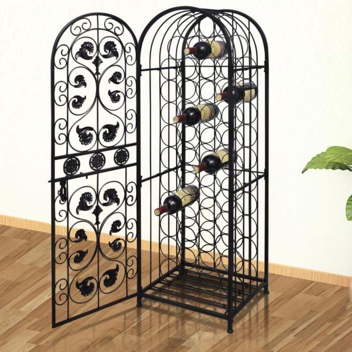 Casier à bouteilles - Étagère à Vin Support Bouteille Casier à Vin 45 x 35,7 x 133,5 cm- pour 45 bouteilles Métal