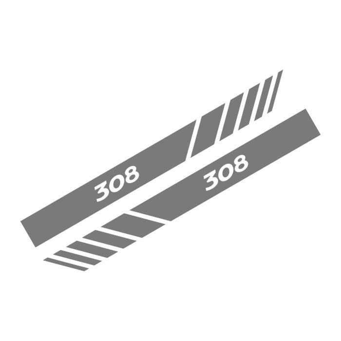 For 308 Black -Autocollants de couverture de rétroviseur de voiture, accessoires Auto, pour Peugeot 206 207 208 307 308 407 107 301