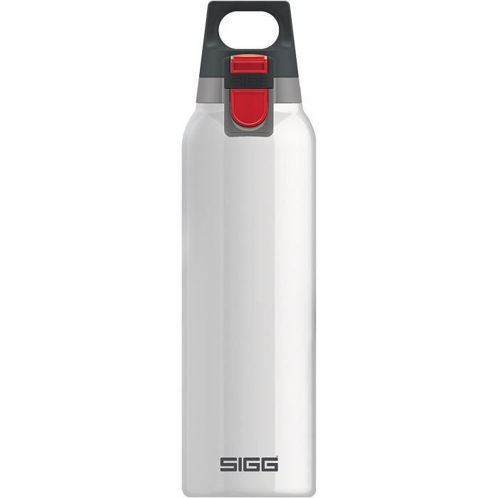 SIGG Hot & Cold ONE Bouteille isotherme White (0.5 L), Gourde isolante sans substances nocives, Petite bouteille en acier inoxydable