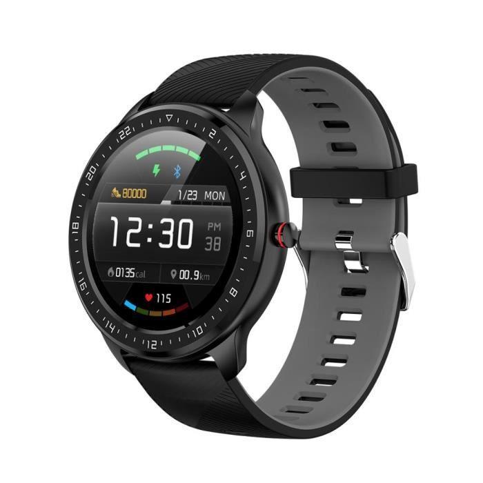 Grey Nouveau NORTH EDGE N06 tactile plein écran montre intelligente hommes IP67 étanche fréquence cardiaque moniteur de pression art