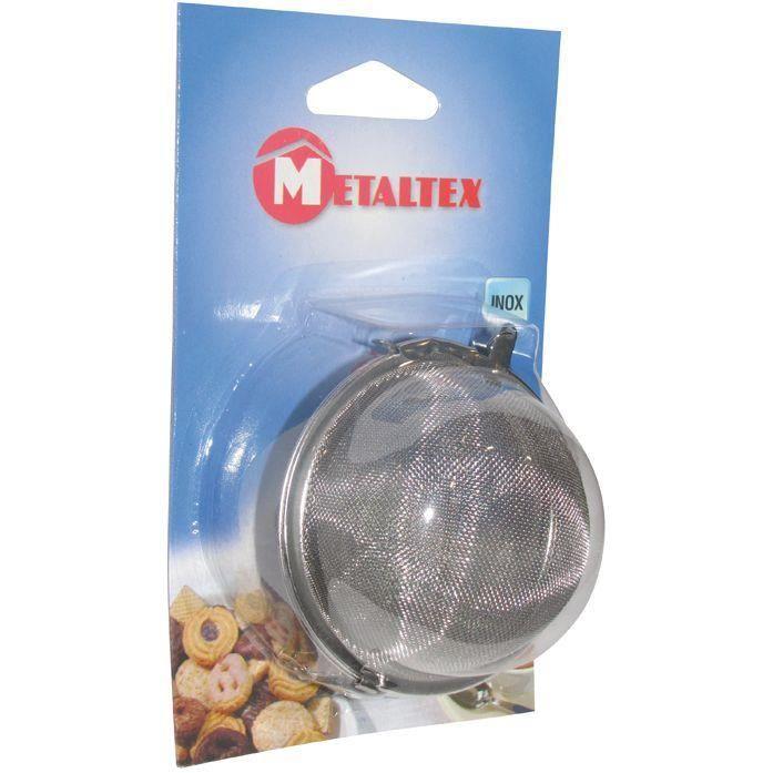 Boule à épices et tisane - inox - D: 7.5cm