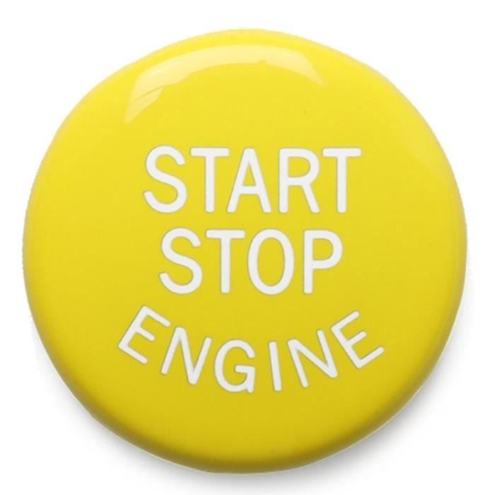 Antivol - Bloque Roue,Jaune Moteur Démarrage Bouton D'arrêt Pour BMW E châssis E46 E60 E90 E92 E87 E82 E64 E70 E71 - Type Yellow #A