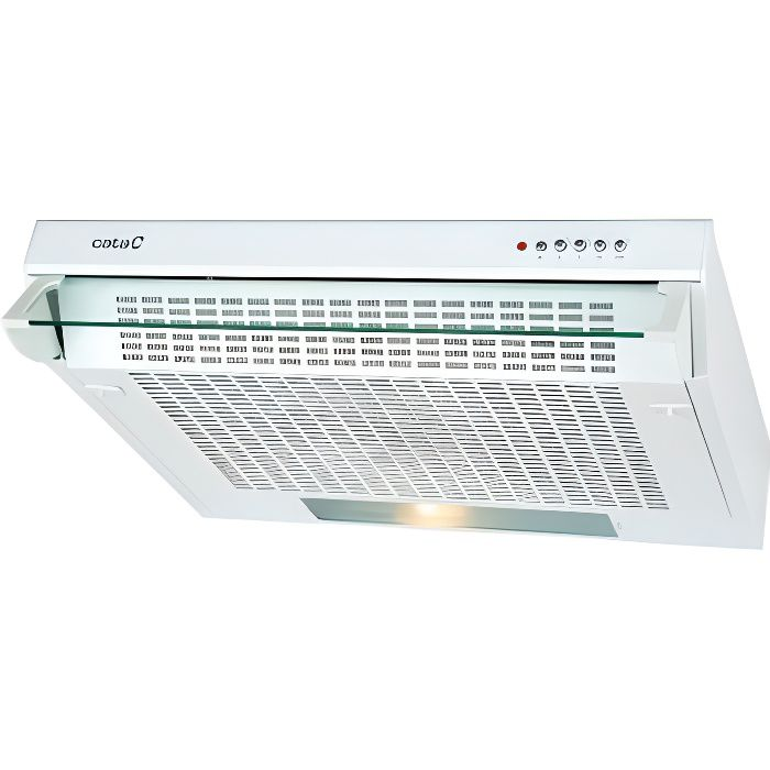 Hotte standard Cata F2060WH 60 cm 200 m3/h 60 dB 83W Blanc-- S0411668