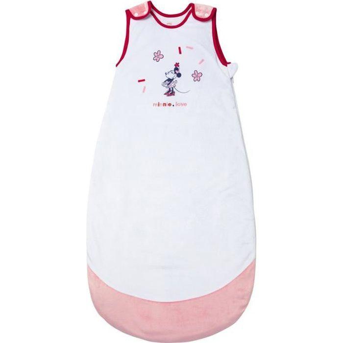 DISNEY Gigoteuse 2ème âge 6-36 mois Minnie confettis - 80/100 cm - Pression velours 100% polyester