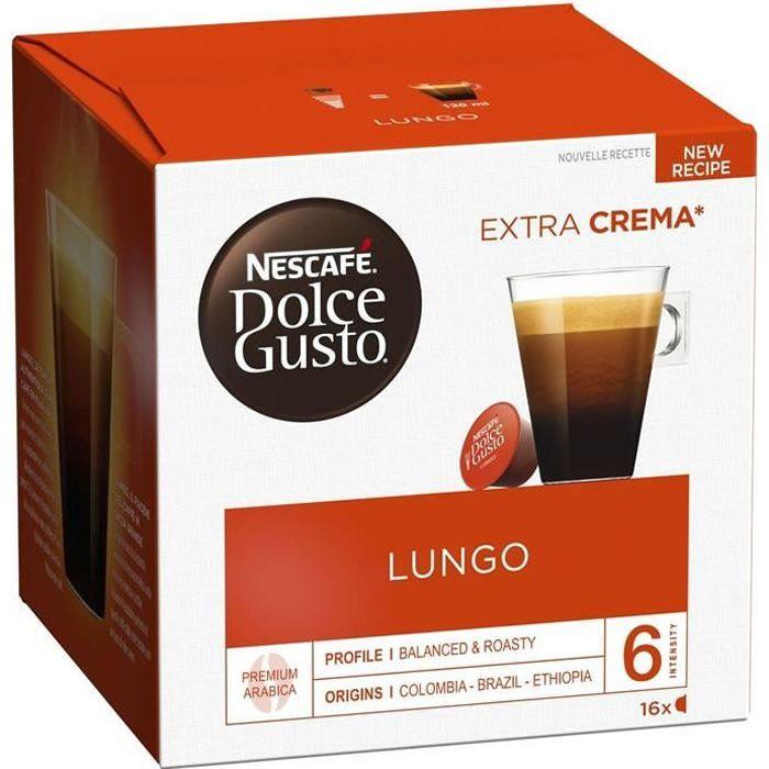 LOT DE 2 - DOLCE GUSTO Lungo Café capsules - 16 capsules de 7g