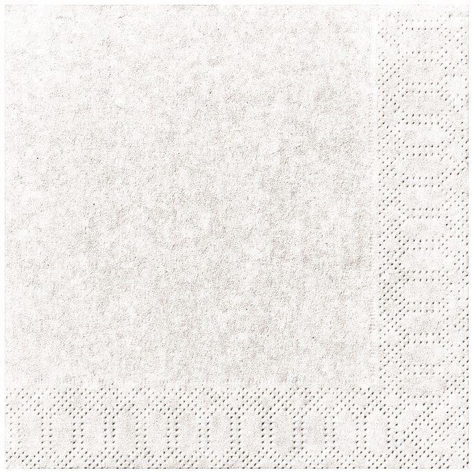DUNI - 20 Serviettes ouate 33x33cm 3 plis Blanc