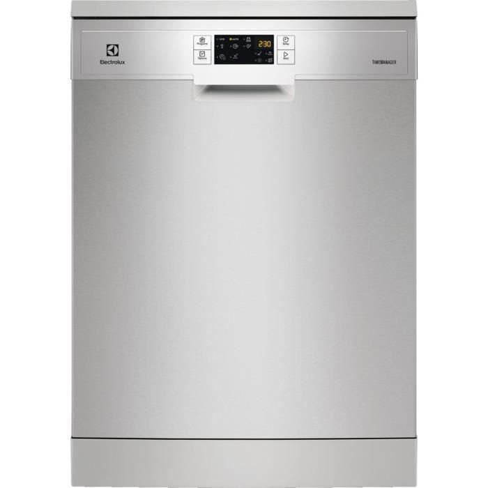 Lave-vaisselle pose libre ELECTROLUX ESF9515LOX - 14 couverts - Moteur induction - Largeur 60cm - 49 dB - Inox