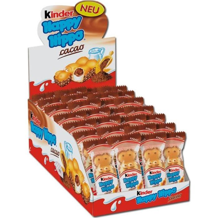 Ferrero Kinder Happy Hippo Snack Cacao Chocolate 28 piéces