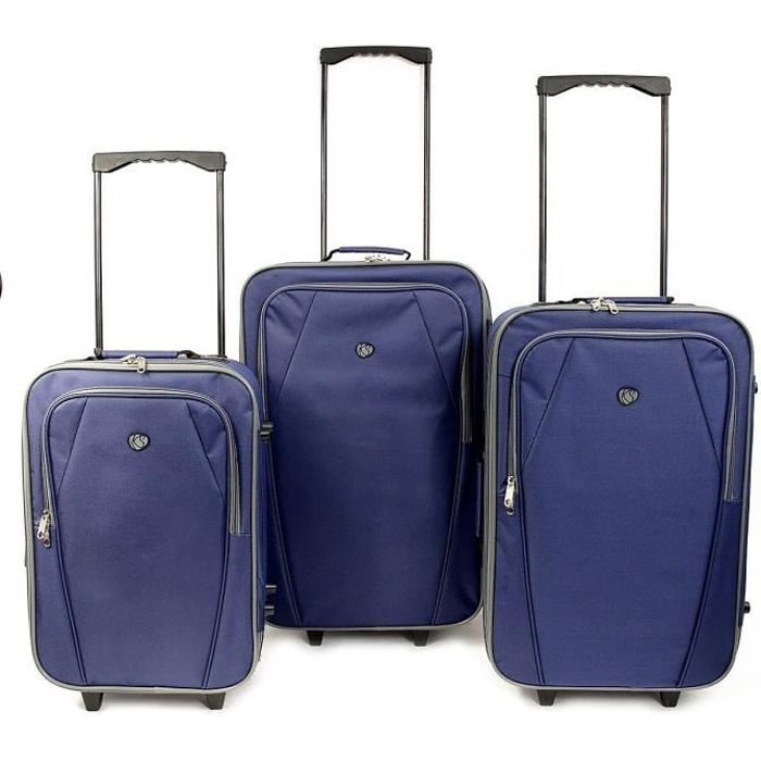 KINSTON Set de 3 Valises Souples Copenhague Bleu