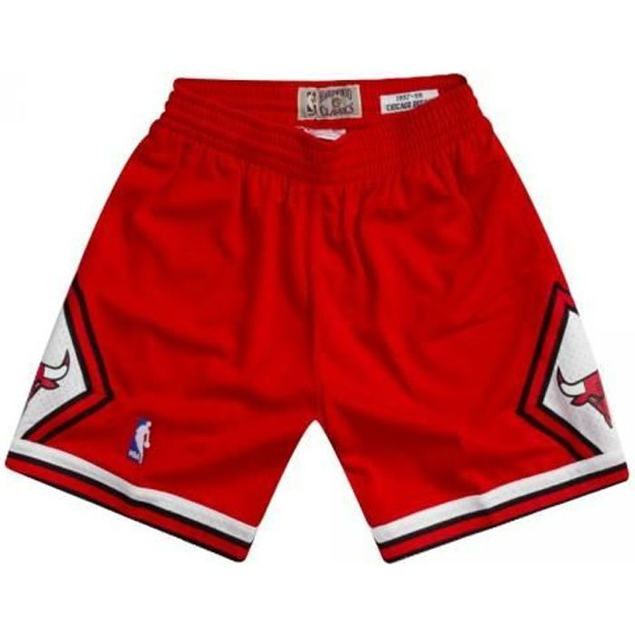 Short NBA Chicago Bulls 1997-98 Mitchell amp Ness Swingman Rouge pour Homme