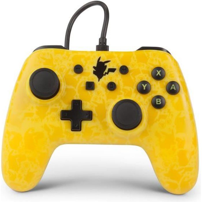 Power a manette nintendo switch wired controller gc pikachu shadow