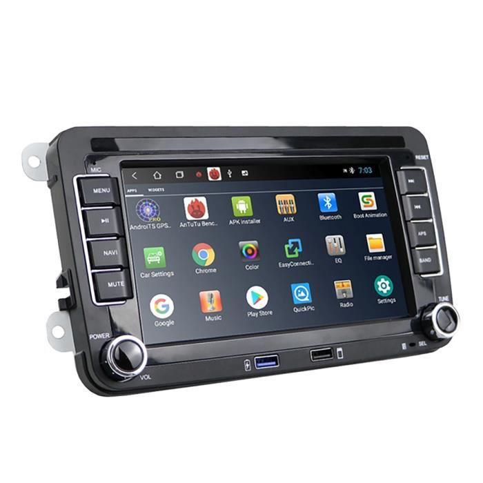 Android 10.0 Radio StéRéO de Voiture 7 Pouces éCran de Contact Voiture MP5 Bluetooth WIFI GPS Charge Port USB RéCepteur Radio FM 1