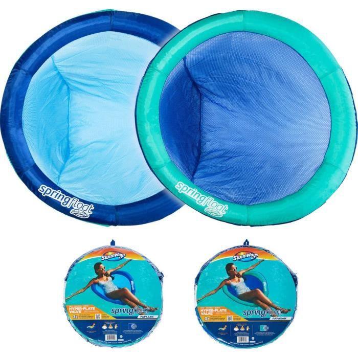 SWIMWAYS - SPRING FLOAT PAPASAN NEW VALVE SwimWays - bouée gonflable et tissu siège de piscine transportable - 6061308