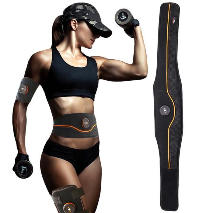Electrostimulateur Musculaire Entraînement Abdominal Muscle EMS Forme d'exercice Fitness,Ceinture Abdominale USB Charge