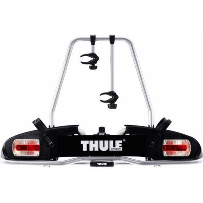 THULE Porte-vélos Europower 916 7-pin, compatible avec tous les types de vélos - L 118 cm - Gris et noir