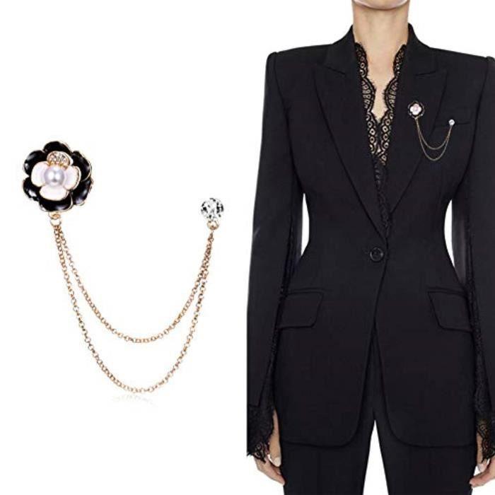JUNGEN Bijoux V/êtement Pins de Echarpe Epingle Forme de Tr/èfle /à Quatre Feuilles en Cristal Broche de S/écurit/é Epingle /à Nourrice