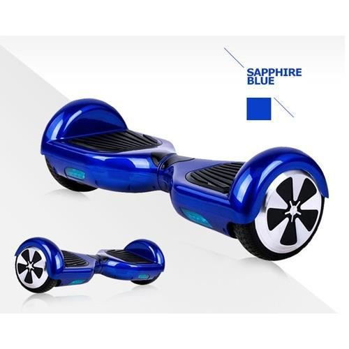skate board lectrique bleu gyropode 2 roues achat vente hoverboard skate board lectrique. Black Bedroom Furniture Sets. Home Design Ideas