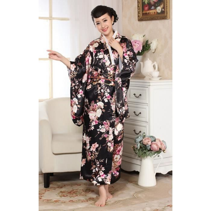 japonais de luxe r tro vintage v tement kimono cosplay costume robe yukata haori peignoir 2. Black Bedroom Furniture Sets. Home Design Ideas