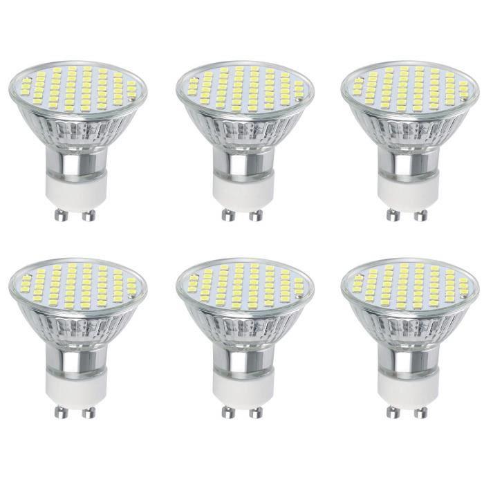 Osdue Ampoules Gu10 Led 3w Equivalent 30w Ampoule Halogene Blanc Froid 6500k 300lm 120 Larges Faisceaux Spots Led Lot De 6 Achat Vente Ampoule Led Cdiscount