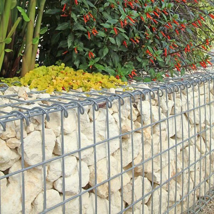 gabion pour pierres 100x50x30 cm gabions m talliques d co jardin cage m tallique r ticul. Black Bedroom Furniture Sets. Home Design Ideas