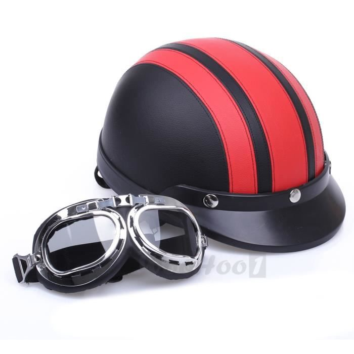 carchet casque moto helmet rouge visi re goggle. Black Bedroom Furniture Sets. Home Design Ideas