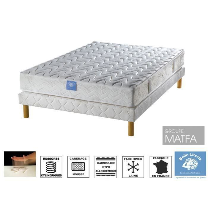ensemble matelas sommier 140x190. Black Bedroom Furniture Sets. Home Design Ideas