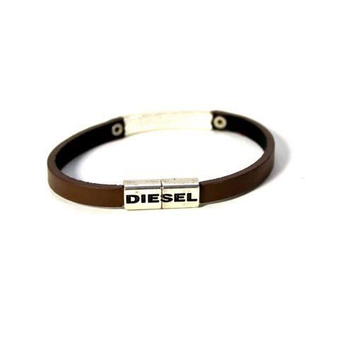 bracelet cuir marron asonix diesel achat vente bracelet gourmette bracelet cuir marron. Black Bedroom Furniture Sets. Home Design Ideas