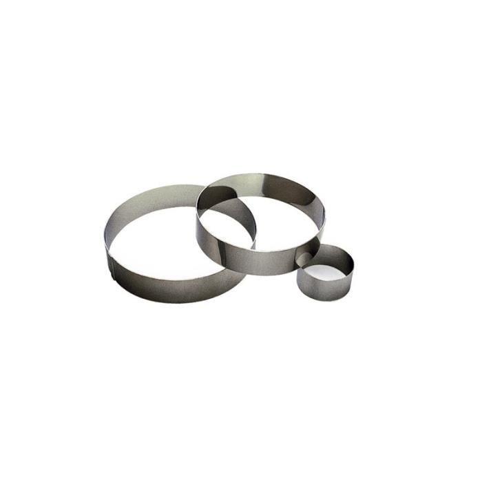 EMPORTE-PIÈCE  Cercle à mousse en inox - Gobel 14cm Gris