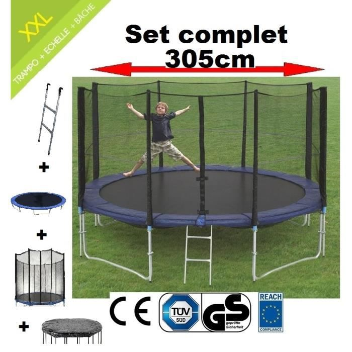 set de trampoline 305 cm chelle filet et b che conforme. Black Bedroom Furniture Sets. Home Design Ideas