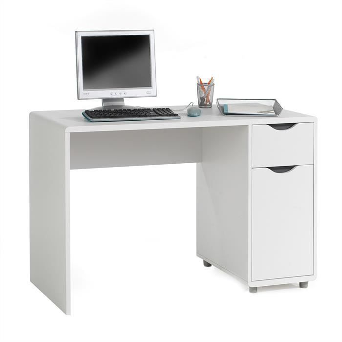 bureau multi rangements tiroir mdf gris blanc achat vente bureau bureau multi rangements tir. Black Bedroom Furniture Sets. Home Design Ideas
