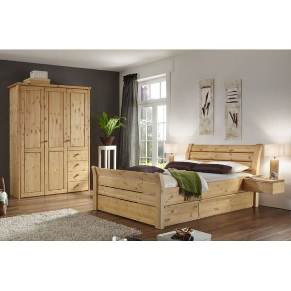chambre adulte karin iii pin massif naturel l achat ForChambre Adulte Complete En Pin