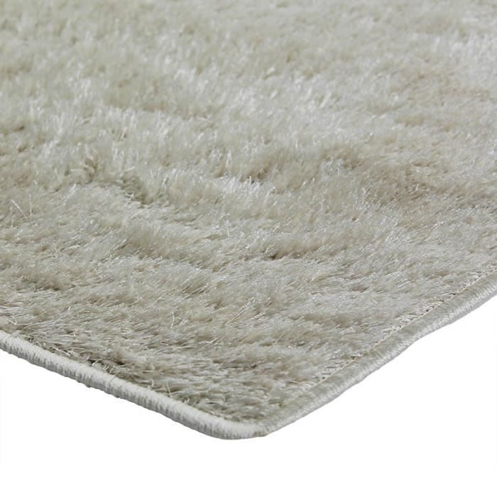 tapis briliant shaggy 120x170 cru achat vente tapis cdiscount. Black Bedroom Furniture Sets. Home Design Ideas