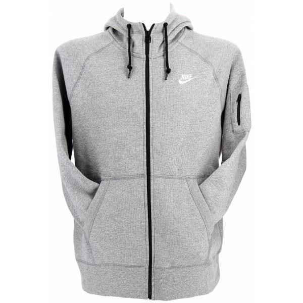 sweat nike aw77 full zip hoody gris achat vente. Black Bedroom Furniture Sets. Home Design Ideas