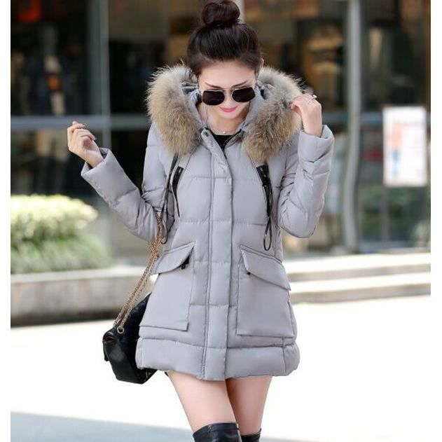 nouvelle arrivee grande taille hooded doudoune femme col de fourrure manteau femme hiver parka. Black Bedroom Furniture Sets. Home Design Ideas