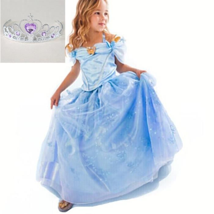(3pcs robe)Bébé fille cosplay costume Robe Cendrillon Colorful Robes  papillon enfants Robes de mariée a695574288b