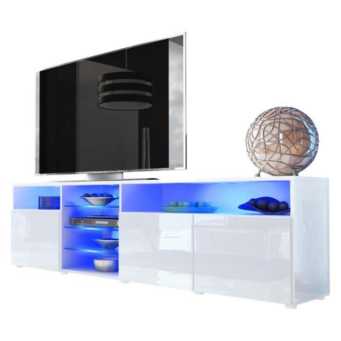 MEUBLE TV Meuble tv bas blanc 194 cm