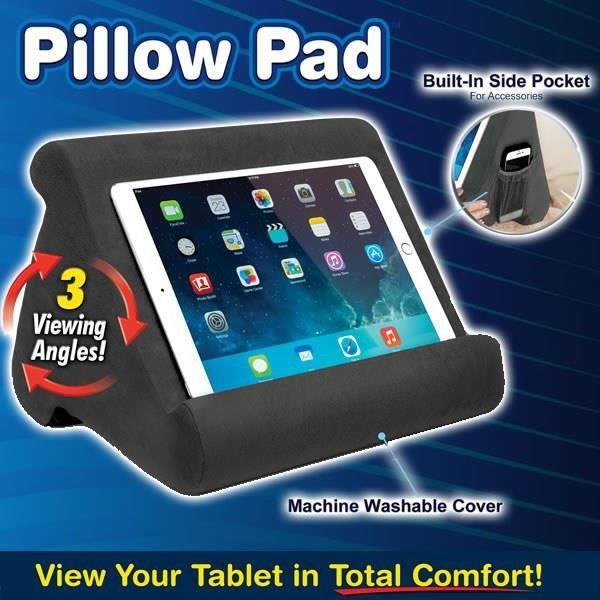 Support pour oreiller souple multi-angle Pillow Pad 2019 Nouveau support de tablette portable triangulaire pour Lecteurs /Électroniques smartphones et livres Oreiller de support pour tablette