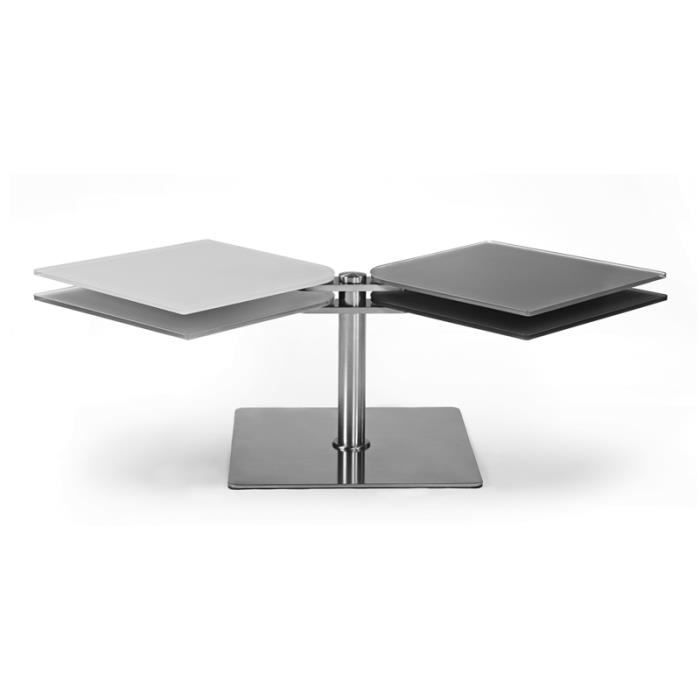 Table basse design articul e tiza grise achat vente - Table basse grise design ...