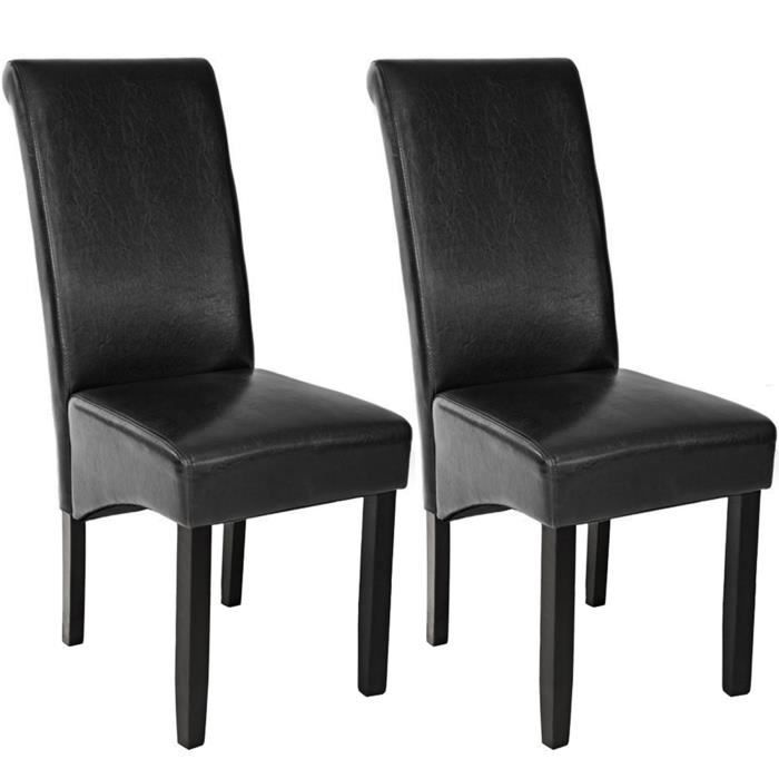 2 chaises de salle manger design 105 cm noir chaises de salon meuble de salon mobilier de. Black Bedroom Furniture Sets. Home Design Ideas