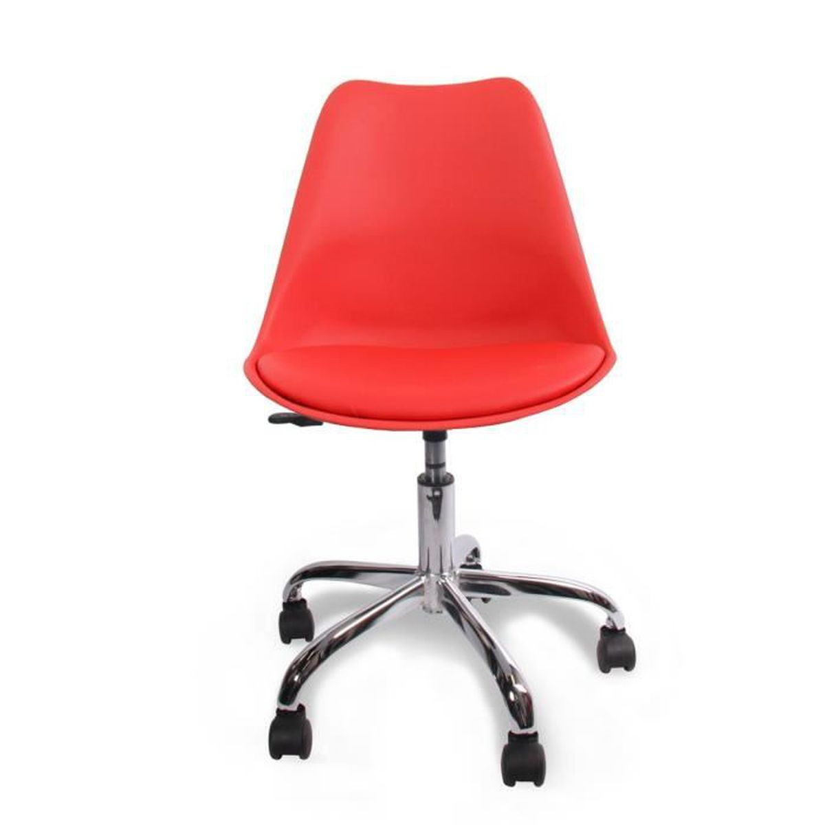 Chaise de bureau ormond office couleur rouge achat for Chaise longue de couleur