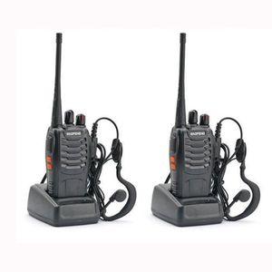 TALKIE-WALKIE 2x BF-888S UHF 400-470 MHz 5W CTCSS Bidirectionnel