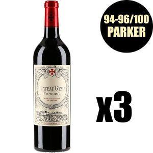 VIN ROUGE X3 Château Gazin 2016 75 cl AOC Pomerol  Vin Rouge
