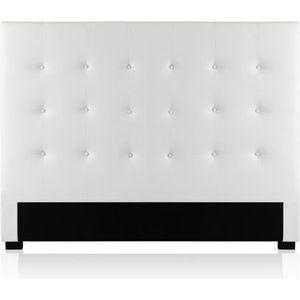 TÊTE DE LIT Tête de lit capitonnée Premium 140cm Blanc