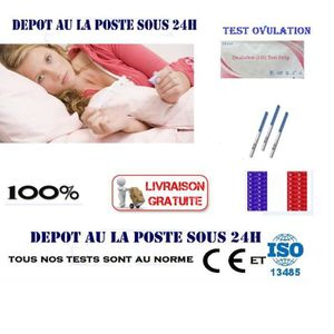 TEST D'OVULATION 5 Tests de D'Ovulation Sensibles Résultat Rapide T