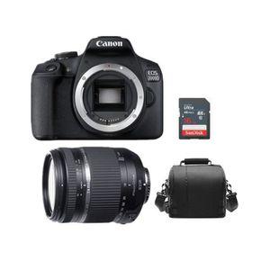 APPAREIL PHOTO RÉFLEX CANON EOS 2000D Black + TAMRON 18-270mm F3.5 -6.3