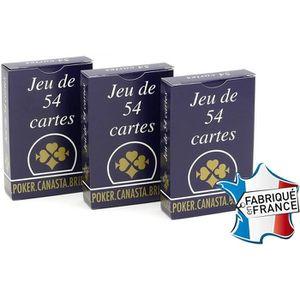 CARTES DE JEU Jeu de 54 Cartes - Gauloise Bleue - Lot de 3