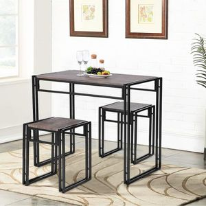 TABLE À MANGER COMPLÈTE Homy Casa Ensemble Table et Chaises de Salle à Man