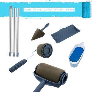 ROULEAU DE PEINTURE  6PCS Home Paint Roller Set Brosse de peinture mul